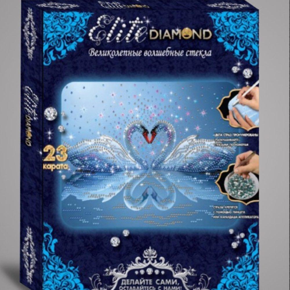 Алмазная мозаика Elite Diamond лебединое сердце